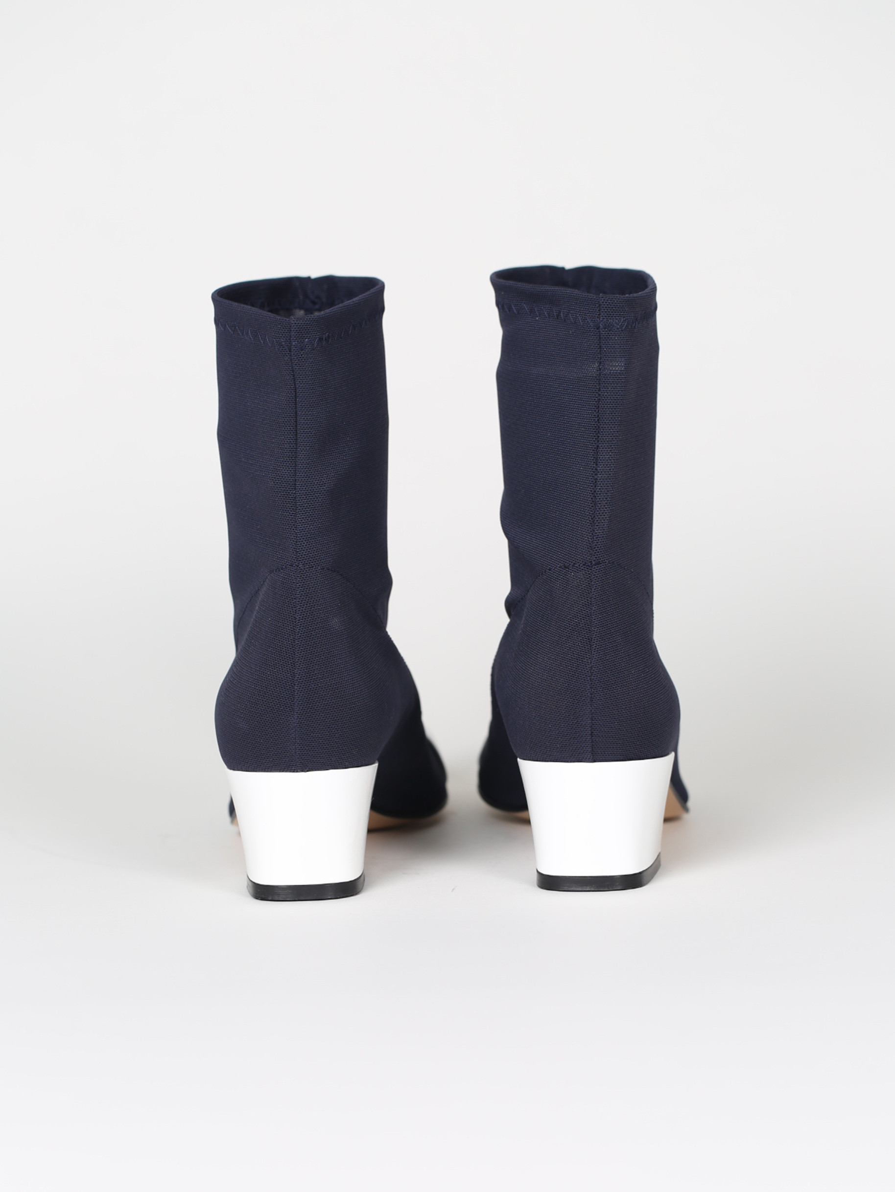 Boots Leather And Blue Patent White Stretch Ankle CxeodBrW